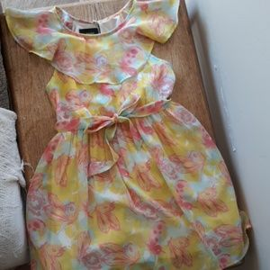 A yellow Easter dress